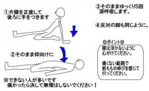 四頭筋スト(仰向け